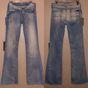 🆕 7 For All Mankind Bleach Flare Jeans High Rise